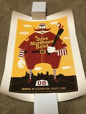 Dave Matthews Band Poster August 2, 2008 Memphis Tennessee