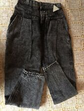 Lee Casuals Girls Jeans Juniors Frost Black Banded Yoke Size 7 P Relaxed Fit