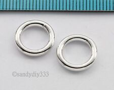 2x BRIGHT STERLING SILVER PLAIN  ROUND OPEN HEAVY JUMP RINGS 12mm 2mm (N826)