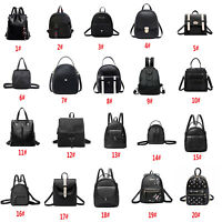 Backpack Anti-theft PU Leather School Women Travel Shoulder Bag Tote Fashion Lot
