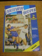 08/12/1984 Tottenham Hotspur v Newcastle United  (Creased, Team Changes). Condit