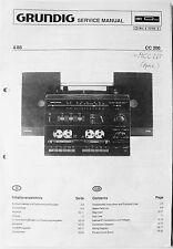 GRUNDIG Service-Manual für Midi-System CC 200