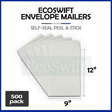 500 White Self Seal Catalog Mailing Shipping Kraft Paper Envelope 28 Lb 9 X 12