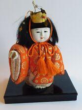 Vintage Japanese Kimekomi Kukki Doll Hand Crafted Missing Hand Piece