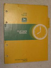 Original John Deere 1250 Tractor Flat Rate Manual