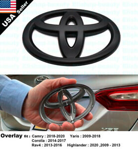 For Toyota Camry Corolla Highlander Rav4 Yaris Rear Overlay Add-On Logo Emblem