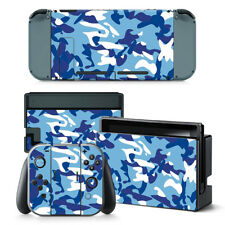 Blue Camo Nintendo Switch Protective Skin 4 Pc Sticker Set - 0196