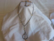 """WHITE HOUSE BLACK MARKET 16"""" CHAIN NECKLACE GOLD & PEWTER TONES  VERY NICE"""