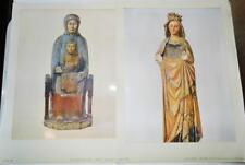 2 x Metropolitan Museum of Art Prints 1924 Madonna & Child Virgin Mary 32x24cm