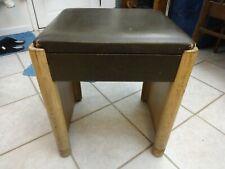 Vintage Mid Century Modern Singer Sewing Stool Vanity Chair