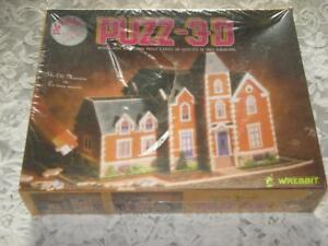 WREBBIT PUZZ-3D THE OLD MANSION PUZZLE New/Sealed 1991