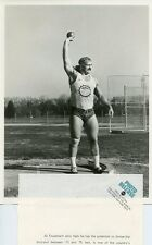 AL FEUERBACH SHOT-PUT XXI OLYMPIC GAMES MONTREAL ORIGINAL 1976 ABC TV PHOTO