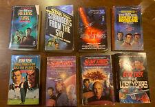 Lot of 8 Star Trek Paperback books 1980's - 2000's