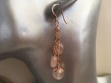 Hook Rose Quartz Not Enhanced Fine Earrings