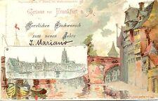 """Frankfurt / Main, Künstlerkarte, """"Glückwunsch zum neuen Jahr"""", 1899"""