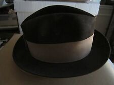 33fa43d46a472 VTG FIFTH AVENUE DARK BROWN COWBOY HAT - DOBBS - FITS 7 1 2