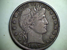 1907-o 50C Barber Half Dollar XF