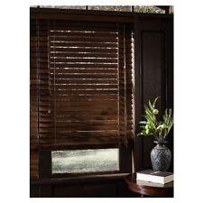 Levolor 2-in Rustic Oak Wood Room Darkening Plantation Blinds 66'' x 64''