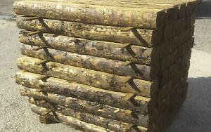 1.8m Rustic Log Tanalised Sleeper - 150x100