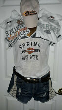 Harley Davidson Women's Clothing Sz Large Clothing Lot Of 6