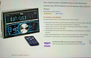 CAR RADIO STEREO - BOSS AUDIO SYSTEMS  820BRGB BB/SD AM/FM BOSS BLUETOOTH DDin