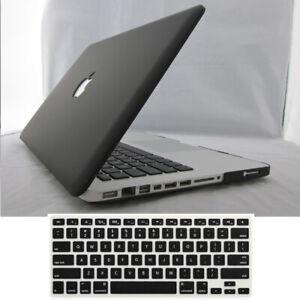 "Black Matte Hard Case/ Keyboard Cover for 2008-2021MacBook pro air 11""12"" 13""15"""