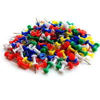 "50 100 PCS Push Pin Pins Thumb Tack Multi Color 3/8"" Head For Office School Home"