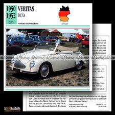 #056.08 VERITAS DYNA (BAYER & BAUR Stuttgart) 1950-1952 - Fiche Auto Car card