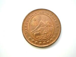 EARLY HARD TO FIND WW11-50 CENTAVOS COIN FROM BOLIVIA-DATED 1942 NUNC