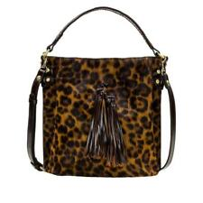 Patricia Nash Torresina Leather Bucket Bag Leopard Tobacco New $220 Retail