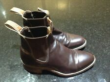 RM WILLIAMS WOMENS CHESTNUT BOOTS SIZE  W6/M/4 GREAT CONDITION