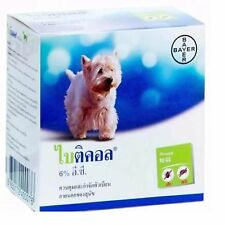 Bayer Bayticol 6% EC 10ml. for Dog Pet remove control flea tick Remedies