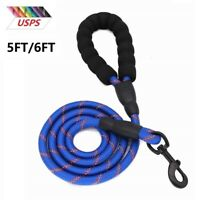 Heavy Duty Dog Leash Nylon Leads with Padded Handle for Large Dogs 4/5/6FT