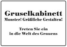 Gruselkabinett! Blechschild 10,5x14,8 cm Schild PC302/019
