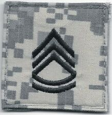 ACU US Army E-7 E7 Sergeant First 1st Class Rank Insignia Hook Fastener Patch