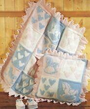 Baby Cot Blanket, Cushion, Boots Hearts Horse Aran DK Knitting Pattern DK 164