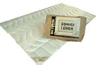Sommer Decke aus Bio Baumwolle KBA Natur Bettdecke 155x220 cm schadstofffrei