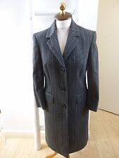 Dolce and Gabbana  D&G grey pinstripe lined smart long jacket/coat  size 40/26