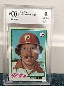 1978 Topps #360 Mike Schmidt BCCG 9