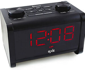 SXE Bluetooth Speaker Extra Loud Alarm Clock Radio Snooze SXE86011
