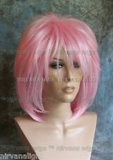 LARGE FIT.. Pink Layered Womans Nirvana Tina Turner Drag? Wig