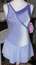NEW GK Velvet ICE SKATING DRESS Adult Medium - Loaded with Swarovski Crystals