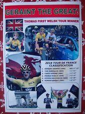 Geraint Thomas 2018 Tour de France winner - souvenir print