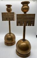 Antique Arts & Craft Mission Candle Holder Stick Copper Vintage