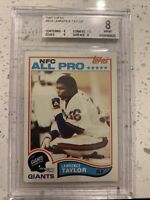 1982 Topps Football Lawrence Taylor ROOKIE RC, ALL-PRO #434 BGS 8 NM-MT
