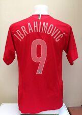 Juventus Away Football Shirt Jersey IBRAHIMOVIC 9 Medium M 2005/2006 Nike Red