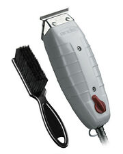 Andis T-Outliner Trimmer with T-Blade (Glossy Gray) with a BeauWis Blade Brush