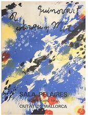 JOSEP GUINOVART 1980 SALA PELAIRES MALLORCA OFFSET LITHO EXHIBITION POSTER SPAIN