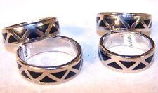 12 BLACK DIAMOND WEDDING BAND RING adult jewelry novelty mens ladies bulk rings