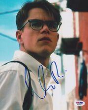 Matt Damon Signed 8x10 Photo The Talented Mr. Ripley Psa/Dna Autographed